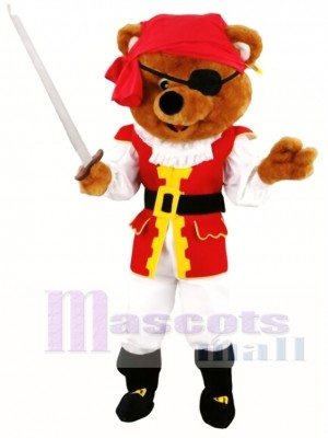 Pirates Brown Bear Mascot Costume