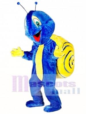 Blue Snail Mascot Costume