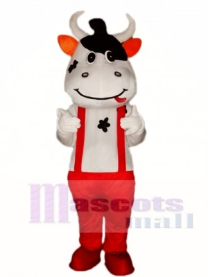 Red Cattle Cow Mascot Costume
