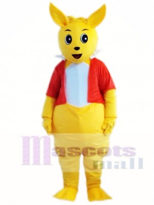 Yellow Kangaroo Mascot Costume