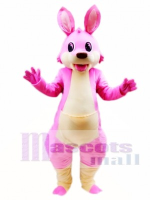 Pink Cartoon Kangaroo Mascot Costume