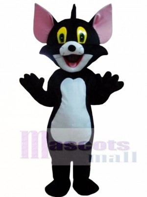 Black Tom Cat Costume Cartoon Mascot Costume