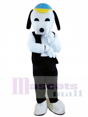 Black Snoopy Cartoon Mascot Adult Costume