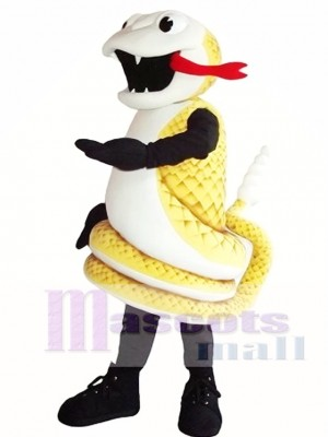 Golden Cobra Snake Mascot Costume