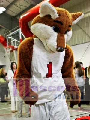 Basketball Sport Fox Mascot Costume