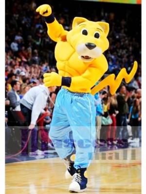 Rocky The Mountain Lion Mascot Costume