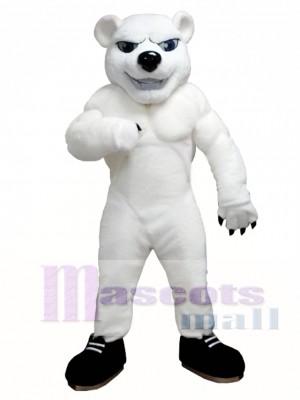 Power Polar Bear Mascot Costume