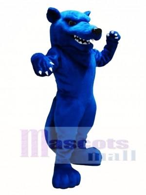 Blue Wolf Mascot Costume