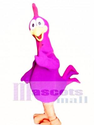 Purple Chicken Mascot Costume Adult Costume