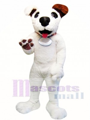 Cute White Dog Mascot Costume