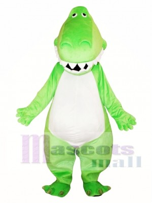 Adult Green Dinosaur Mascot Costume