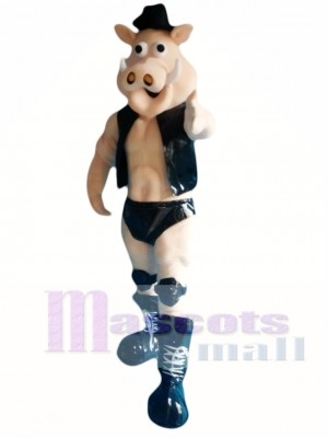 Power Muscle Boar Pig Mascot Costume