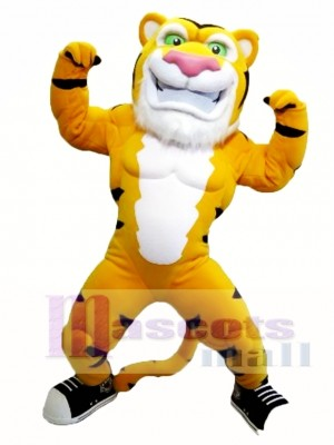Power Muscle Tiger Mascot Costume
