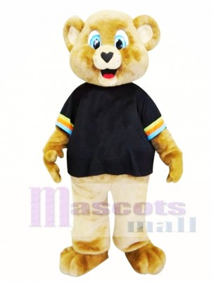 Cute Brown Bear Mascot Costume
