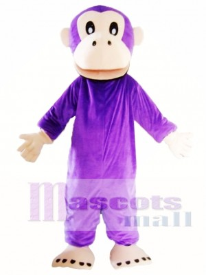 Adult Purple Gorilla Mascot Costume