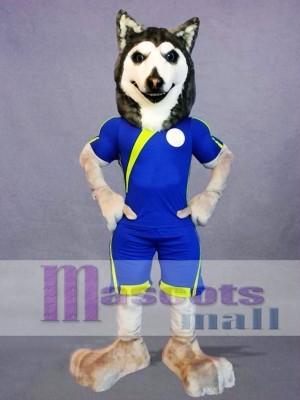 Football Husky Dog Mascot Costume
