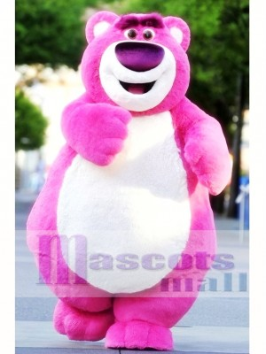 Cute Pink Bear Mascot Costume