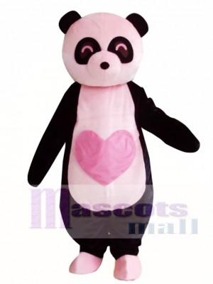 Pink Panda Mascot Costume