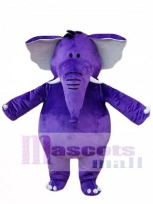 Purple Elephant Mascot Costumes