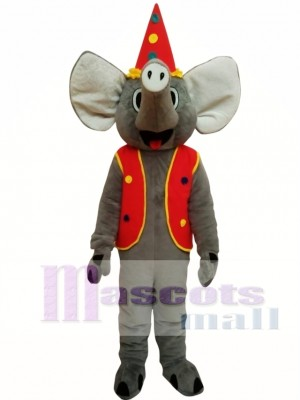 Elephant With Coat Christmas Mascot Costume