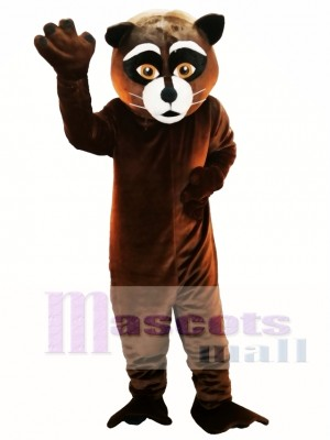 Brown Raccoon Mascot Costume