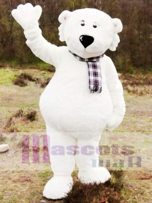 White Walker Polar Bear Mascot Costume