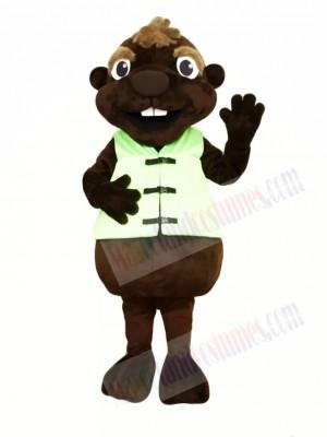 Chocolate Beaver Mascot Costumes