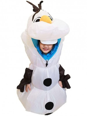 Inflatable Olaf Snowman Frozen Halloween Christmas Costumes for Kid
