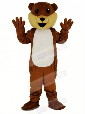 Ollie Otter with White Belly Mascot Costume Cartoon