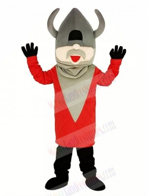 Madcap Viking with Red Coat Mascot Costume People