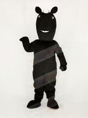 Realistic Black Mustang Horse Mascot Costume School