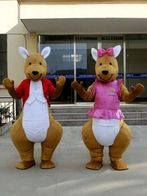 Red or Pink Kangaroo Mascot Costume
