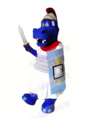 Brave Blue Hippo Mascot Costumes Animal