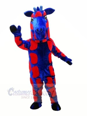 Blue and Red Giraffe Mascot Costumes Animal