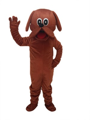 Cute Reddish Brown Rooney Dog Mascot Costume