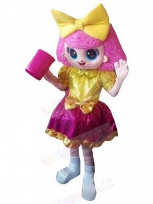 Glitter Queen Doll Mascot Costume