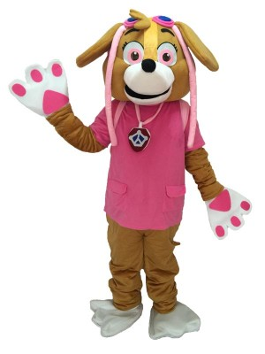 Paw Patrol Skye Pink Mascot Costume Dog Fancy Suit Cartoon Character