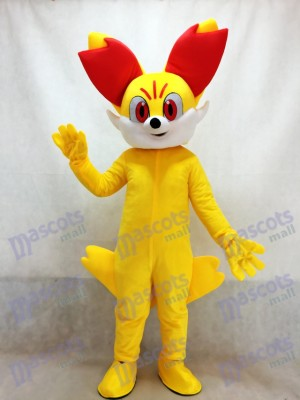 Pokemon Pokémon GO Pocket Monster Yellow Fox Fired Fennekin Mascot Costume