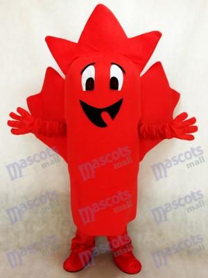 Red Maple Leaf Mascot Costume