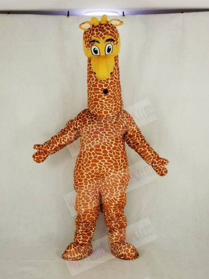 Realistic Giraffe Mascot Costume Cartoon