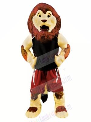 Brown Sport Lion Mascot Costumes Animal