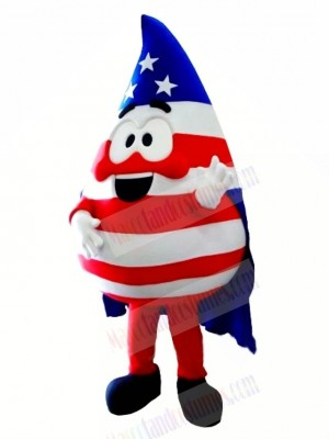 Flag Blood Drop Mascot Costume Cartoon