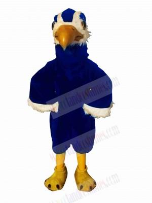 Strong Blue Hawk Mascot Costumes Cartoon