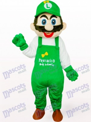 Green Poland Captain Mario Anime Adult Mascot Costume