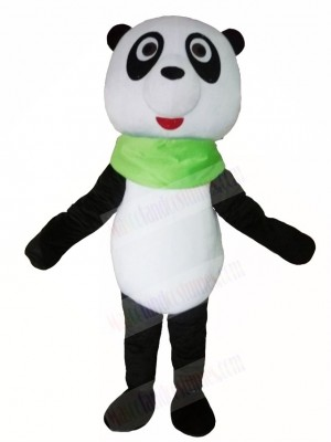 Panda with Green Triangular Mascot Costumes Animal