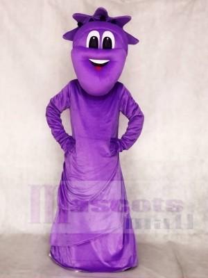 Purple Statue of Liberty Mascot Costumes