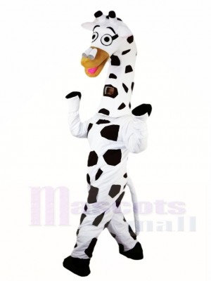 White Giraffe Mascot Costumes Animal