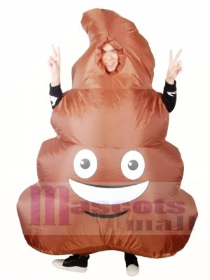 Emoji Poop Pile Smile Face Shit Inflatable Halloween Christmas Costumes for Adults