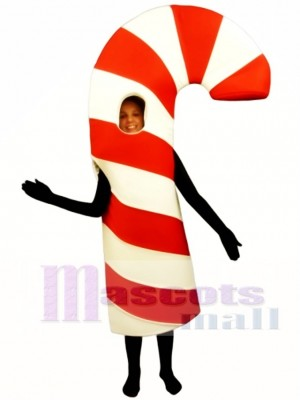 Open Face Candy Cane Mascot Costume