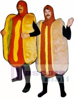 Hot Dog with Relish(on left) Mascot Costume